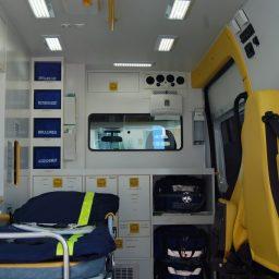 Intérieur ambulance Brive